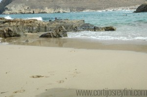 Typical beach in Cabo de Gata