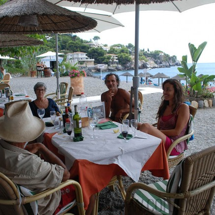 Enjoying another meal at Chambao de Joaquin restaurant La Herradura